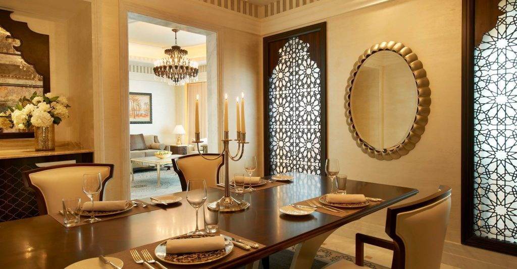 The St. Regis Abu Dhabi Luxury Hotel - Abu Dhabi, United Arab Emirates - Guest Suite Dining Room