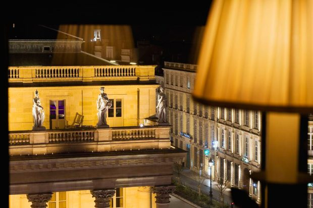 InterContinental Bordeaux Le Grand Hotel - Bordeaux, France - Rooftop Night View