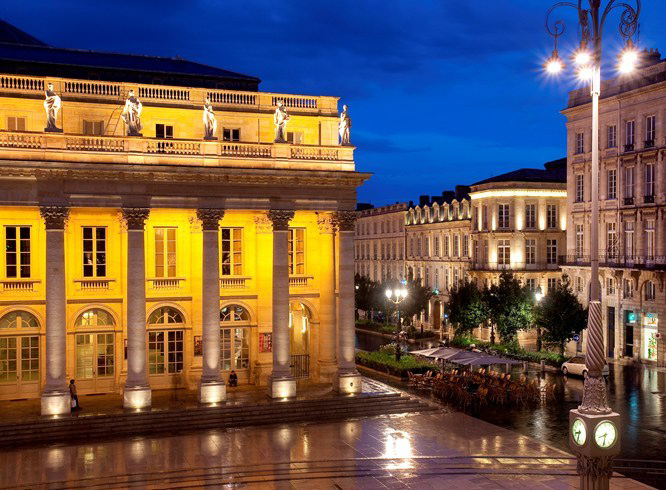 InterContinental Bordeaux Le Grand Hotel - Bordeaux, France - Night Street View