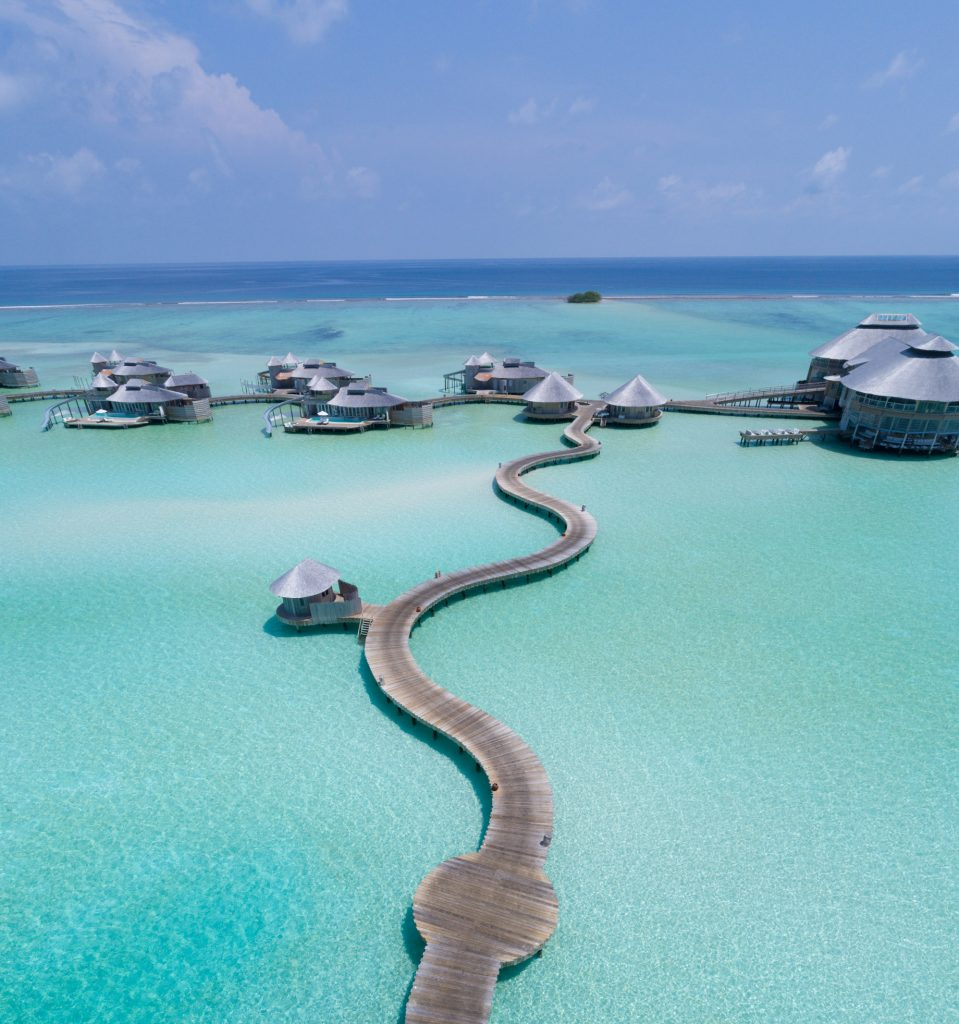 Soneva Jani Luxury Resort - Noonu Atoll, Medhufaru, Maldives - Jetty Boardwalk Aerial