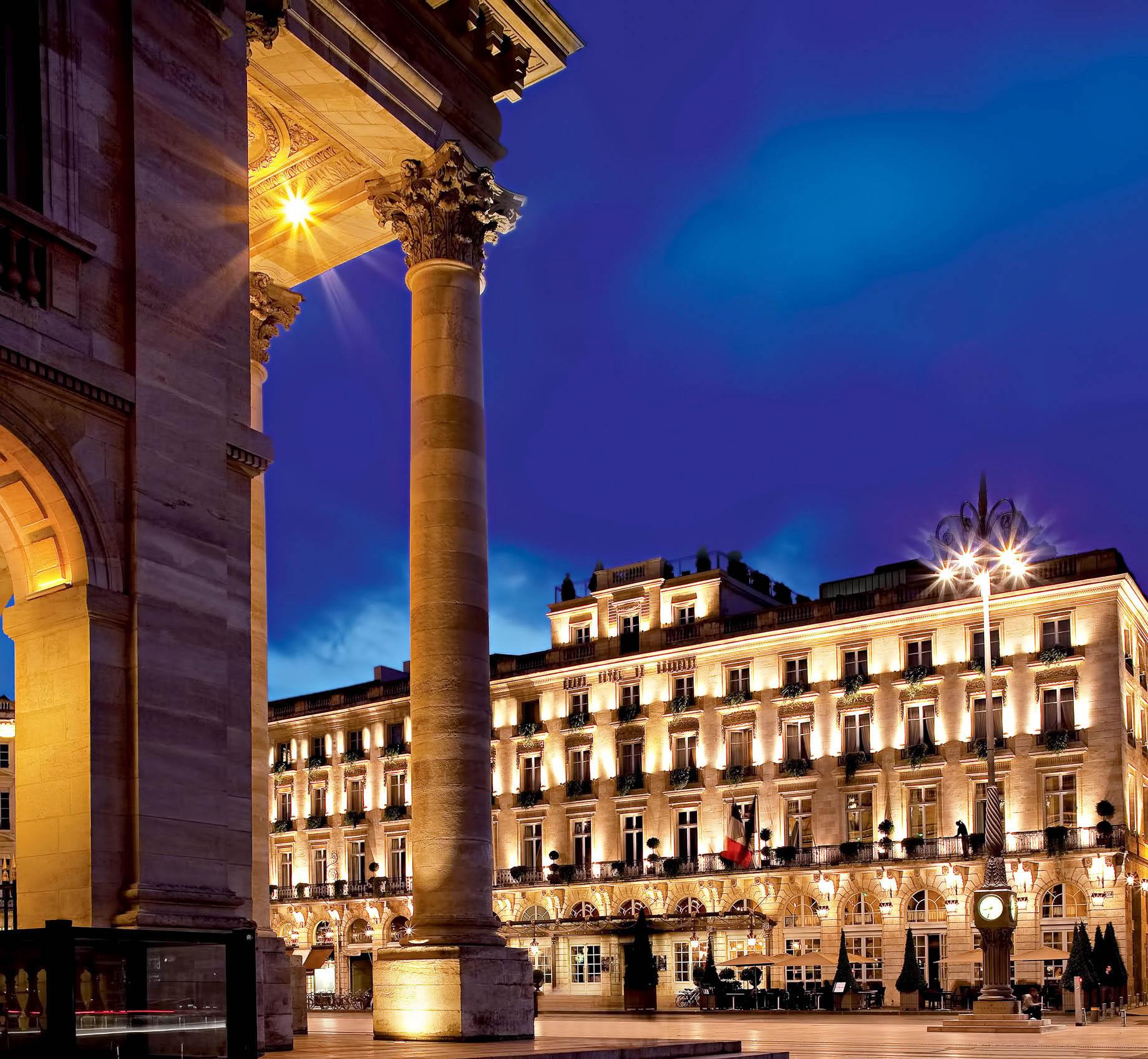 InterContinental Bordeaux Le Grand Hotel – Bordeaux, France – Night Architectural View