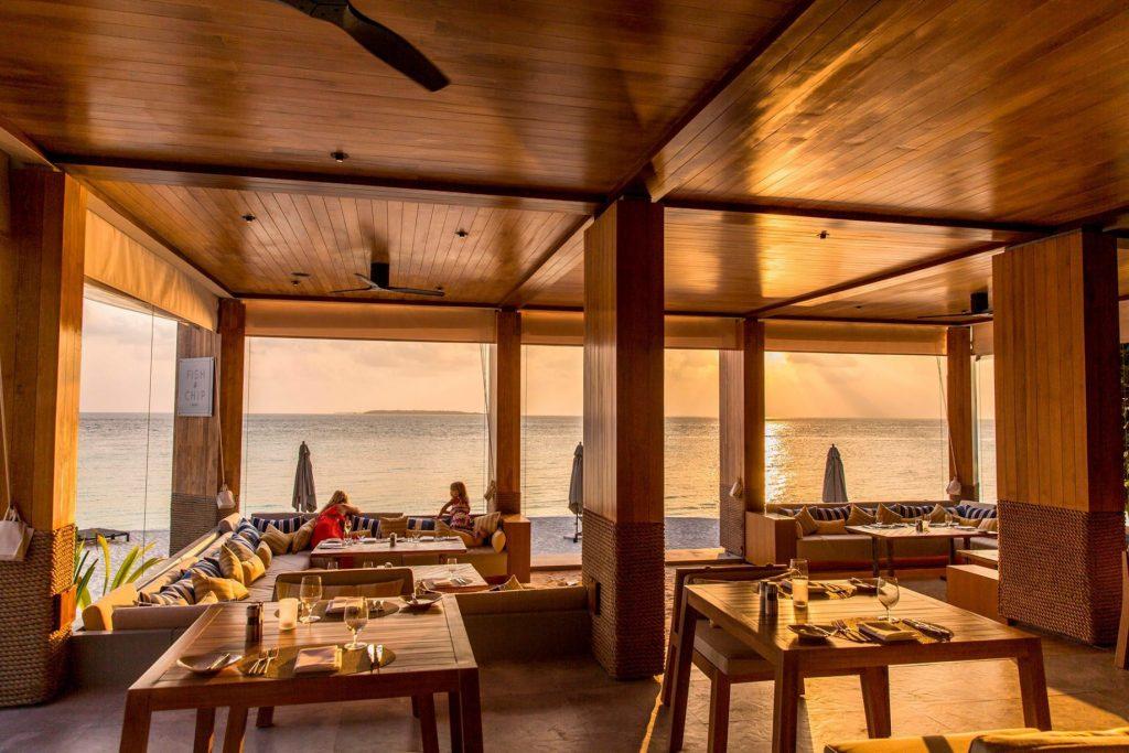 Amilla Fushi Luxury Resort and Residences - Baa Atoll, Maldives - Overwater Ocean Lounge Sunset