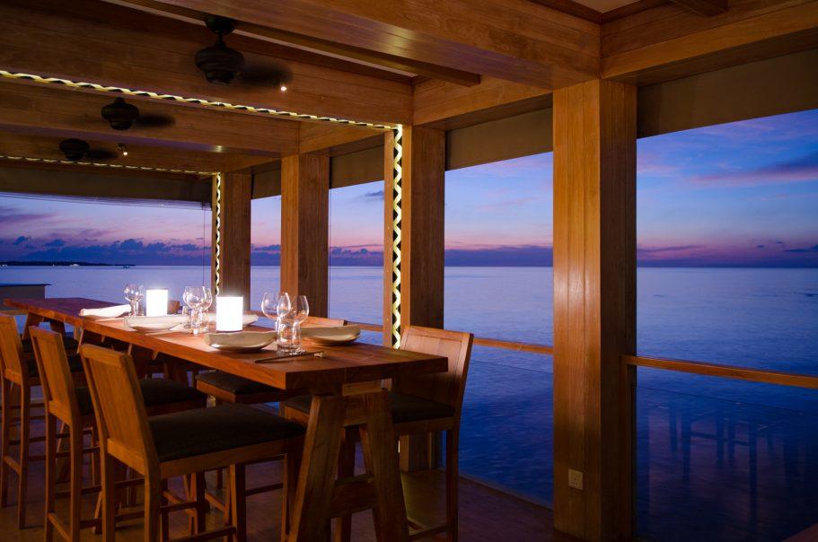 Amilla Fushi Luxury Resort and Residences - Baa Atoll, Maldives - Oceanfront OAK Lounge Dusk