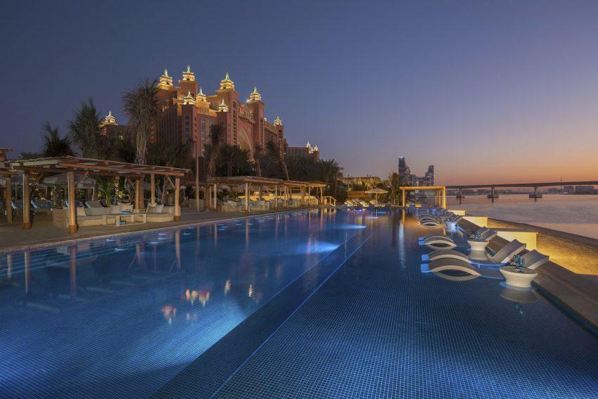 Atlantis The Palm Luxury Resort - Crescent Rd, Dubai, UAE - White Beach Club Sunset