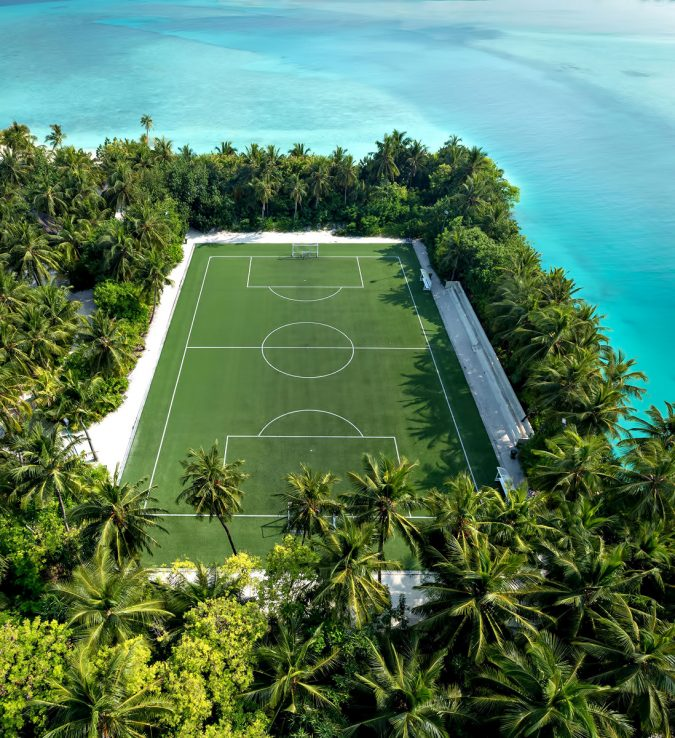 One&Only Reethi Rah Luxury Resort - North Male Atoll, Maldives - Club One Football Soccer Pitch