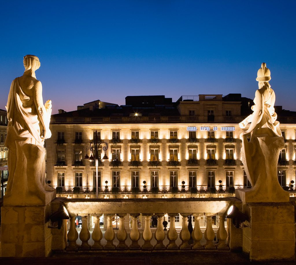 InterContinental Bordeaux Le Grand Hotel - Bordeaux, France - Night Facade View