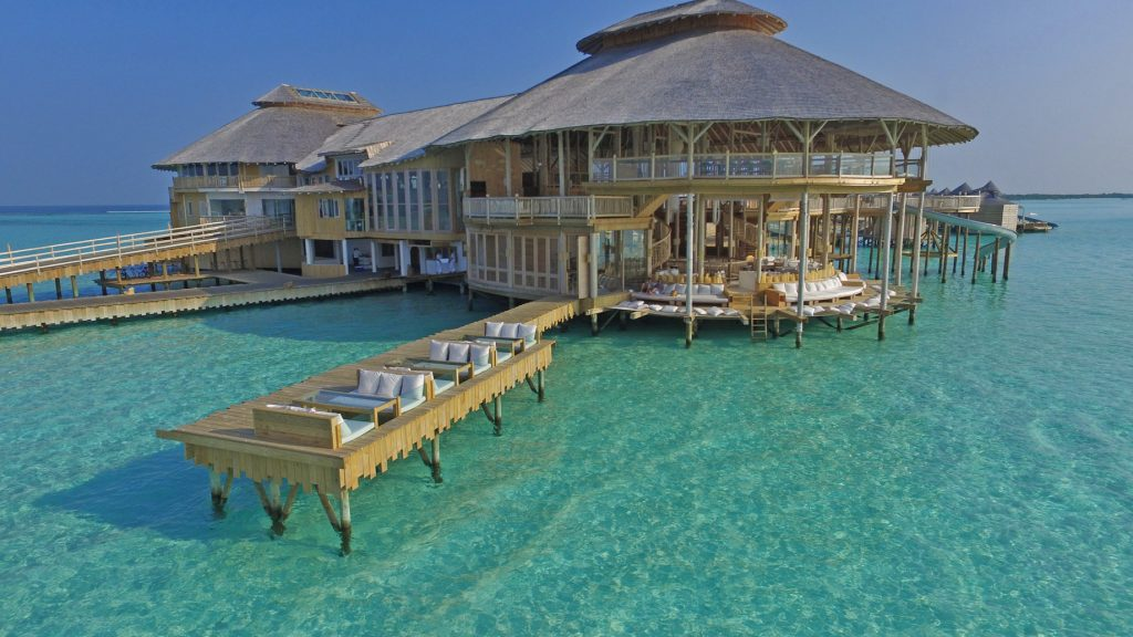 Soneva Jani Luxury Resort - Noonu Atoll, Medhufaru, Maldives - The Gathering Overwater Dining Lounge