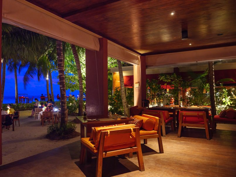 Amilla Fushi Luxury Resort and Residences - Baa Atoll, Maldives - Barolo Grill Restaurant Dusk