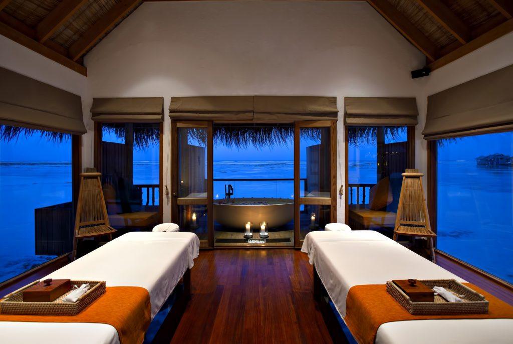 Gili Lankanfushi Luxury Resort - North Male Atoll, Maldives - Overwater Spa Night