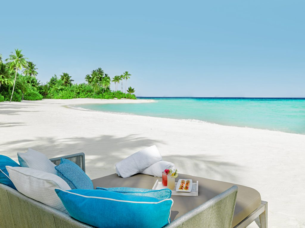One&Only Reethi Rah Luxury Resort - North Male Atoll, Maldives - White Sand Beach Lounge Chair