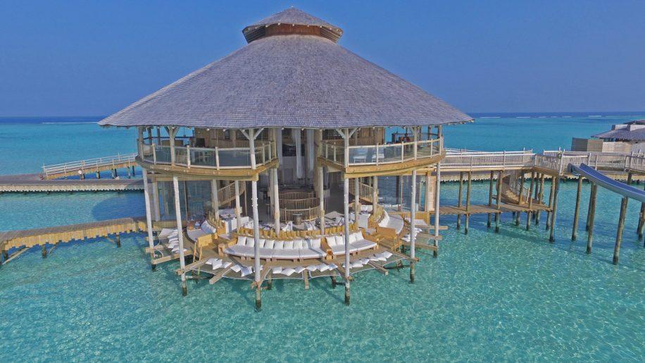 Soneva Jani Luxury Resort - Noonu Atoll, Medhufaru, Maldives - The Gathering Overwater Lounge