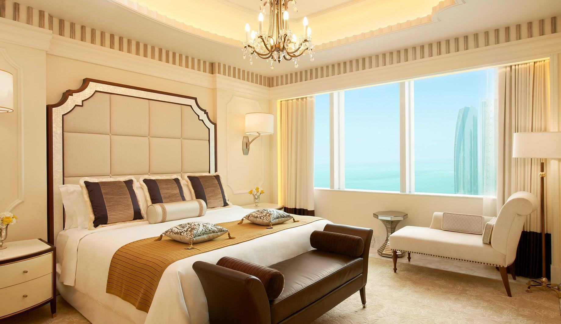 The St. Regis Abu Dhabi Luxury Hotel – Abu Dhabi, United Arab Emirates – Luxury Suite Bedroom