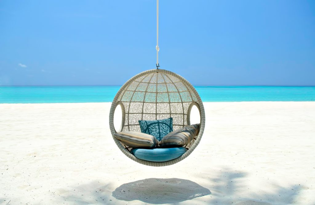 One&Only Reethi Rah Luxury Resort - North Male Atoll, Maldives - White Sand Beach Swing Chair
