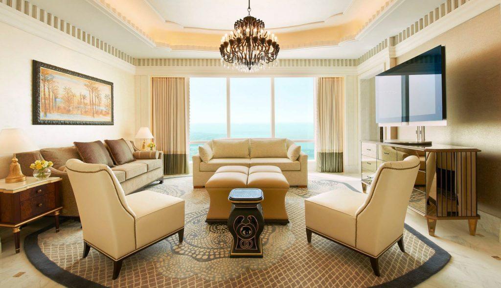 The St. Regis Abu Dhabi Luxury Hotel - Abu Dhabi, United Arab Emirates - Luxury Suite Living Room