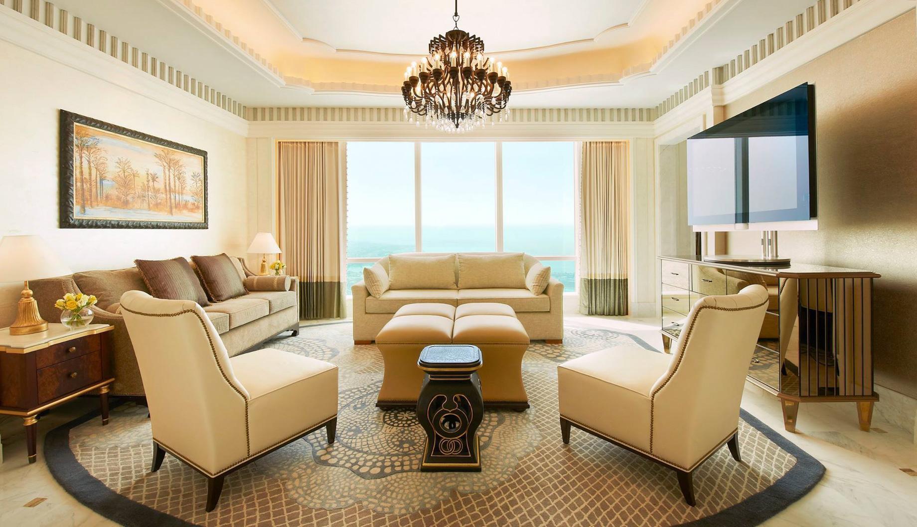 The St. Regis Abu Dhabi Luxury Hotel – Abu Dhabi, United Arab Emirates – Luxury Suite Living Room