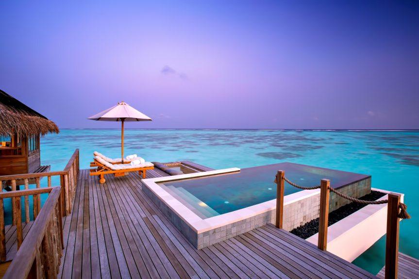 Gili Lankanfushi Luxury Resort - North Male Atoll, Maldives - Overwater Villa Pool Sunset