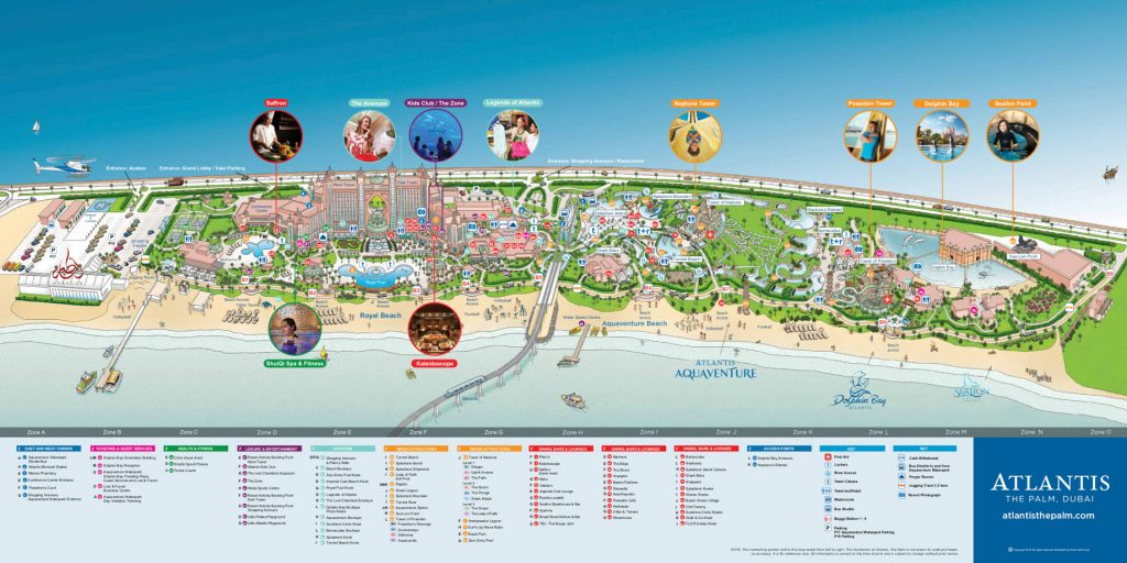 Map - Atlantis The Palm Luxury Resort - Crescent Rd, Dubai, UAE
