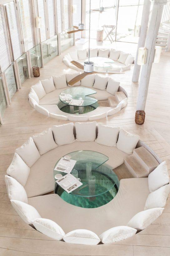 Soneva Jani Luxury Resort - Noonu Atoll, Medhufaru, Maldives - The Gathering Overwater Lounge Table