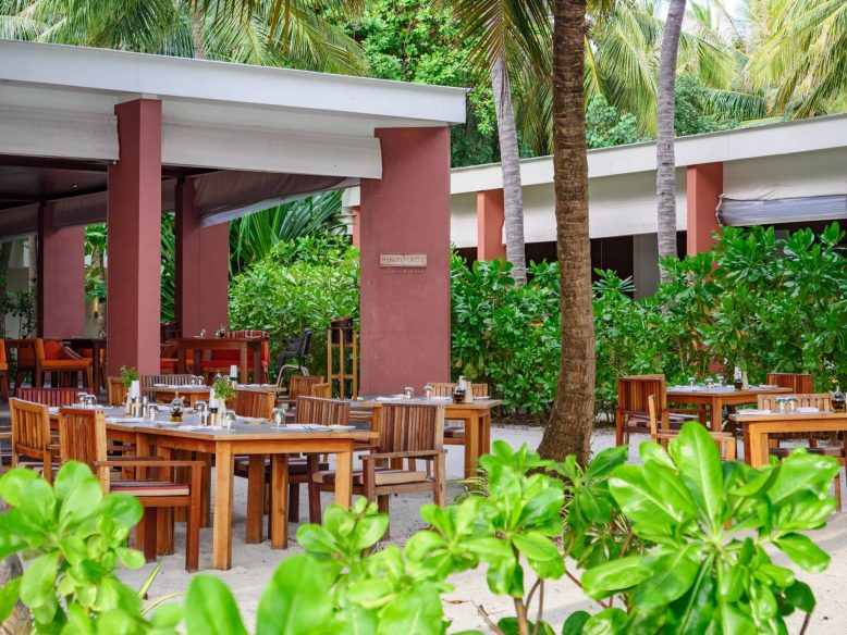 Amilla Fushi Luxury Resort and Residences - Baa Atoll, Maldives - Barolo Grill Restaurant Outdoor Tables