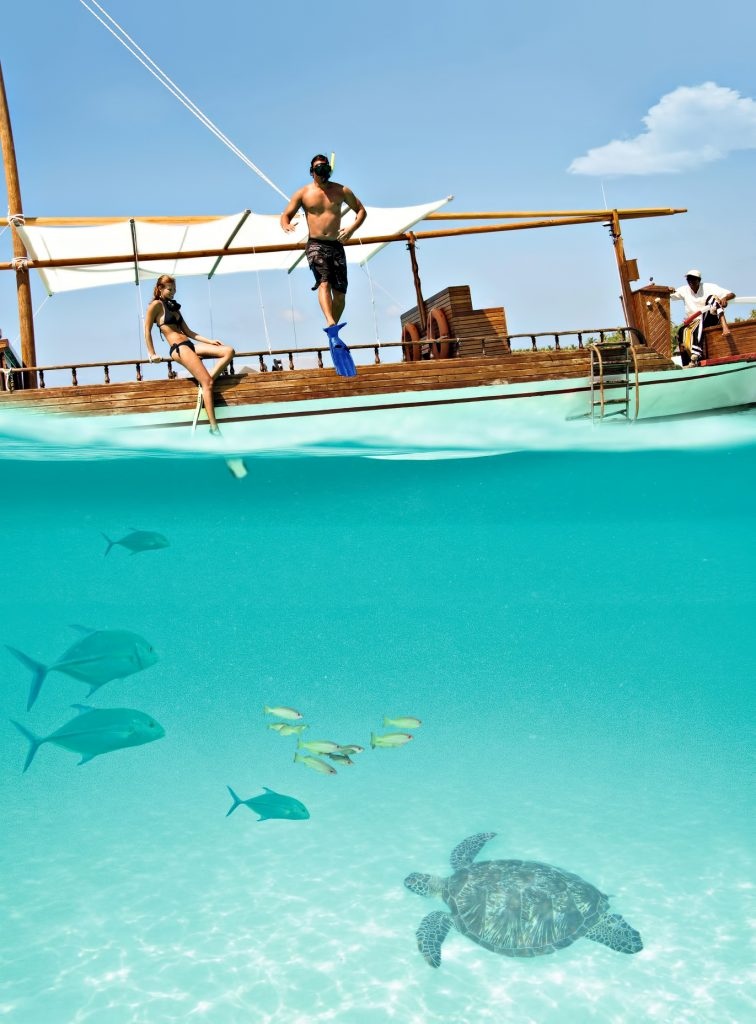 One&Only Reethi Rah Luxury Resort - North Male Atoll, Maldives - Boat Snorkeling Underwater View