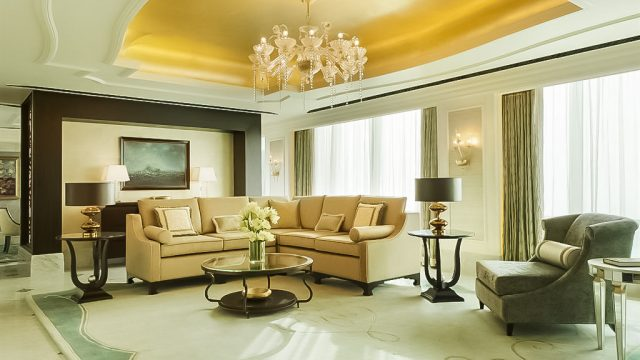 The St. Regis Abu Dhabi Luxury Hotel - Abu Dhabi, United Arab Emirates - Al Manhal Suite Living Room