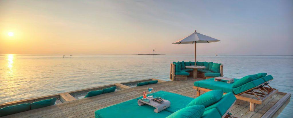 Gili Lankanfushi Luxury Resort - North Male Atoll, Maldives - Overwater Villa Deck Sunset