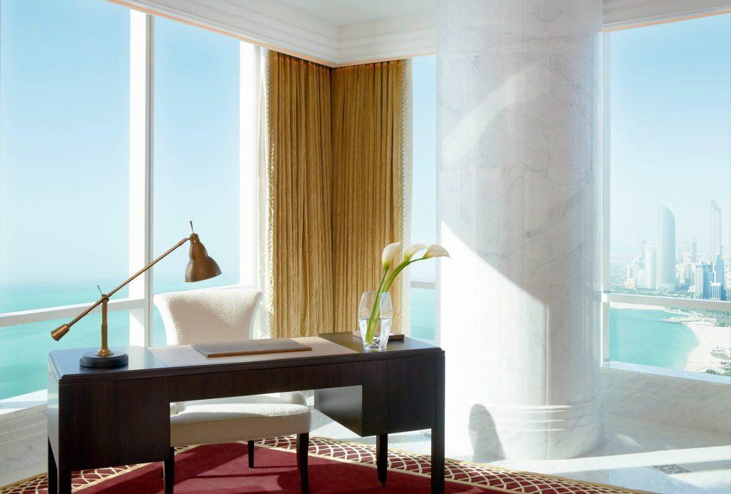 The St. Regis Abu Dhabi Luxury Hotel - Abu Dhabi, United Arab Emirates - Al Hosen Suite Ocean View Desk