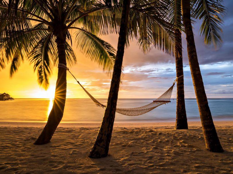 Gili Lankanfushi Luxury Resort - North Male Atoll, Maldives - Beach Palm Tree Hammock Sunset