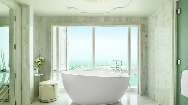 The St. Regis Abu Dhabi Luxury Hotel - Abu Dhabi, United Arab Emirates - Grand Deluxe Suite Bathroom Tub