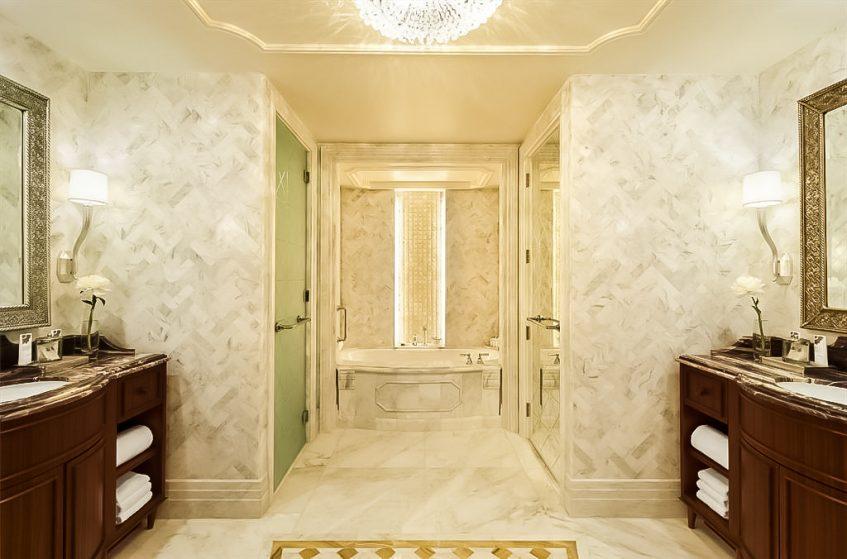 The St. Regis Abu Dhabi Luxury Hotel - Abu Dhabi, United Arab Emirates - St. Regis Suite Bathroom