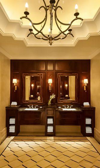 The St. Regis Abu Dhabi Luxury Hotel - Abu Dhabi, United Arab Emirates - Luxury Mens Restroom