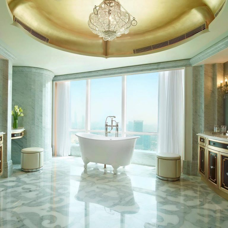 The St. Regis Abu Dhabi Luxury Hotel - Abu Dhabi, United Arab Emirates - Regal Freestanding Bathtub