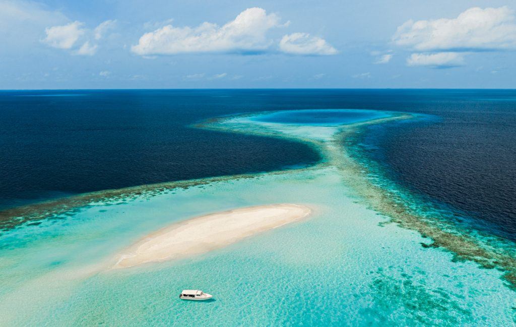 One&Only Reethi Rah Luxury Resort - North Male Atoll, Maldives - Tropical Beach Sandbank Boat