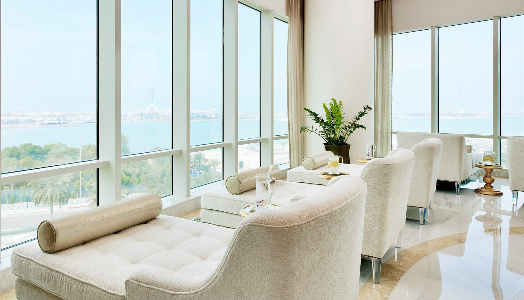 The St. Regis Abu Dhabi Luxury Hotel – Abu Dhabi, United Arab Emirates – Remede Spa Chairs Ocean View