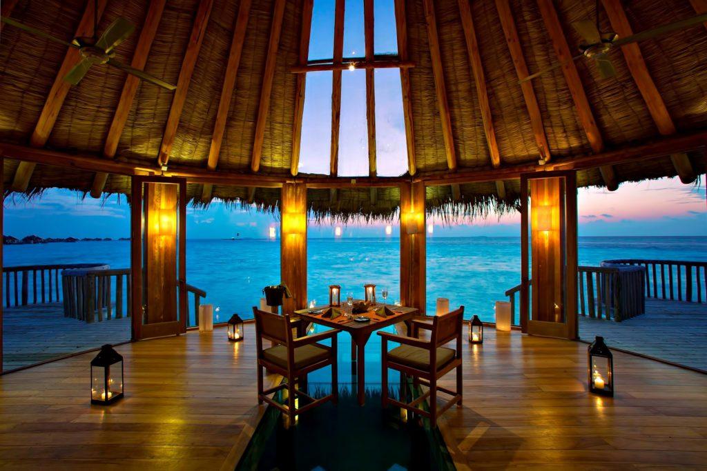 Gili Lankanfushi Luxury Resort - North Male Atoll, Maldives - The Private Reserve Interior Dusk