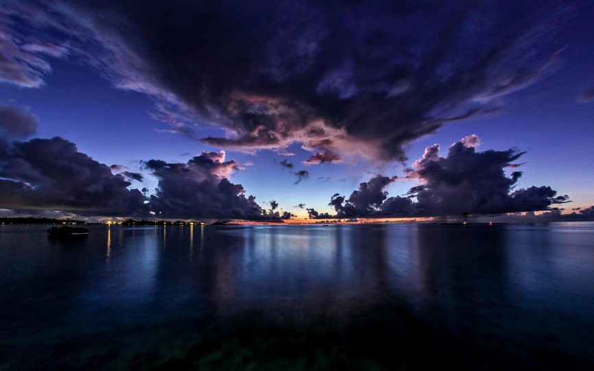 Gili Lankanfushi Luxury Resort - North Male Atoll, Maldives - Oceanfront Dusk View
