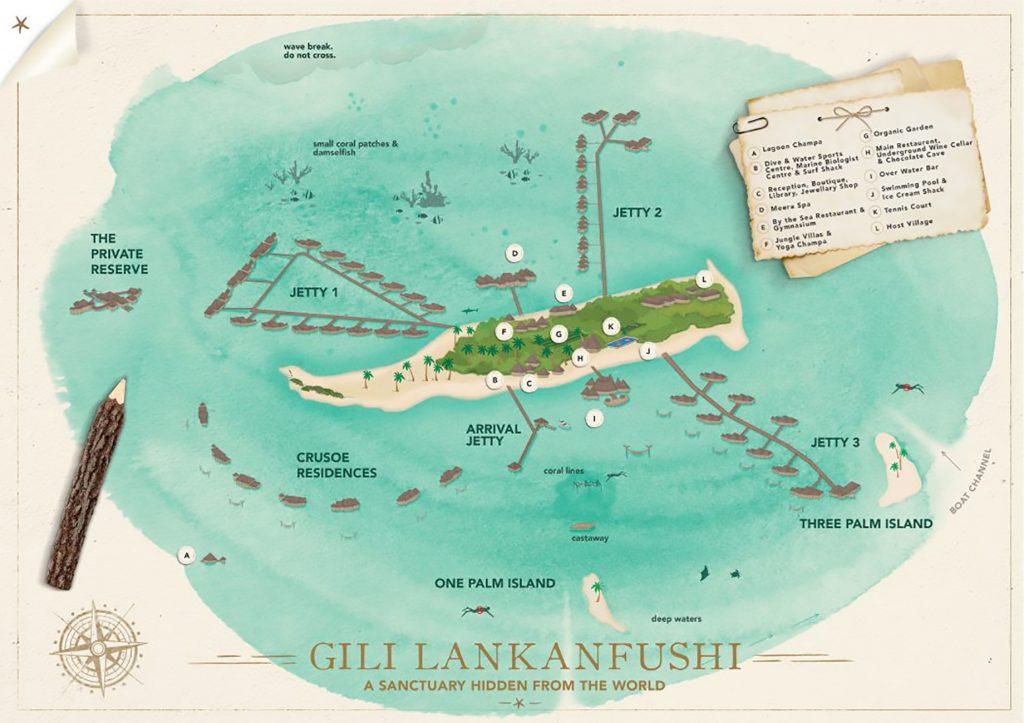 Map - Gili Lankanfushi Luxury Resort - North Male Atoll, Maldives - Resort Map