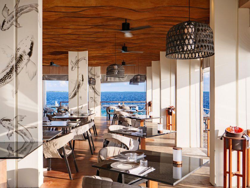 Amilla Fushi Luxury Resort and Residences - Baa Atoll, Maldives - Feeling Koi Signature Overwater Restaurant Dining