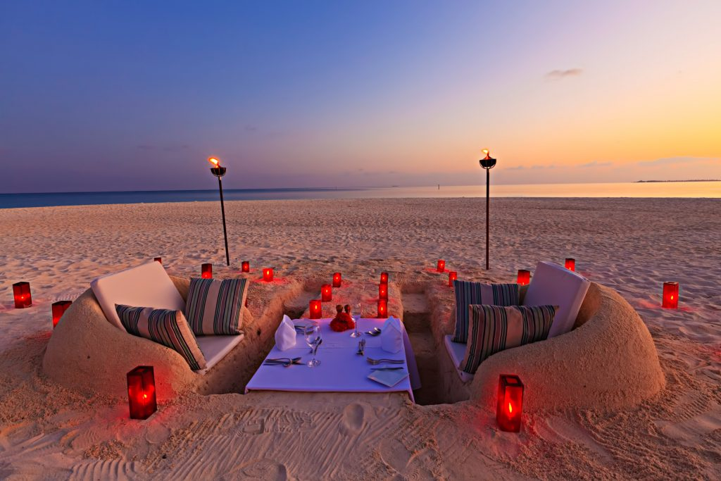 Velassaru Maldives Luxury Resort - South Male Atoll, Maldives - Beach Sunset Sand Chairs