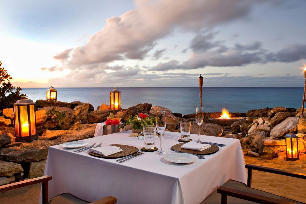 Amanyara Luxury Resort - Providenciales, Turks and Caicos Islands - Seaside Dining Twilight