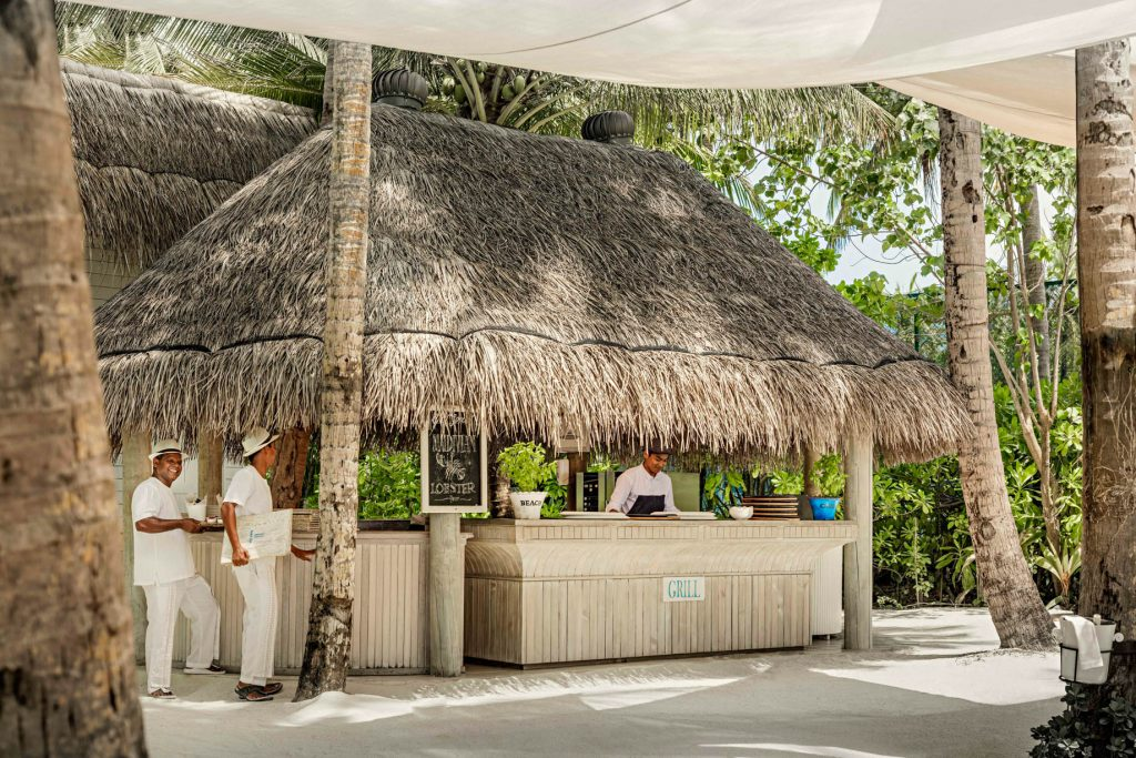 One&Only Reethi Rah Luxury Resort - North Male Atoll, Maldives - Beach Club Restaurant Grill
