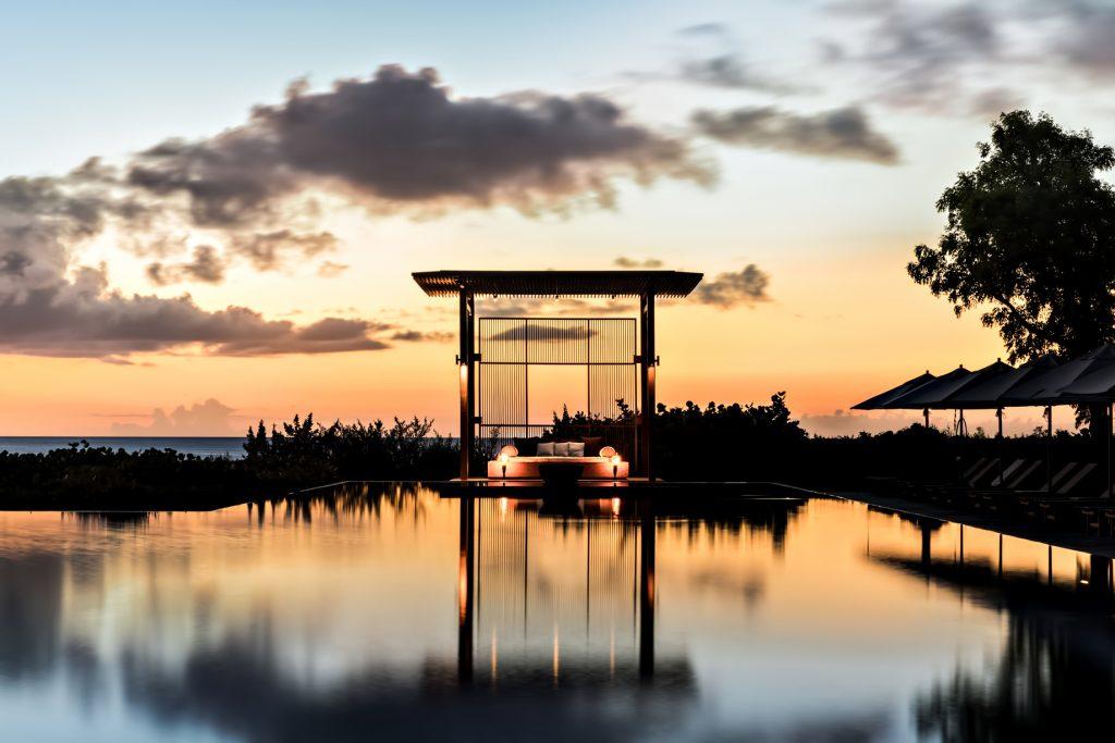 Amanyara Luxury Resort - Providenciales, Turks and Caicos Islands - Seaside Pool Sunset