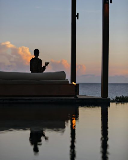 Amanyara Luxury Resort - Providenciales, Turks and Caicos Islands - Sunset Poolside Relaxation