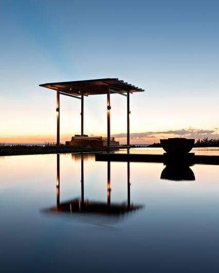 Amanyara Luxury Resort - Providenciales, Turks and Caicos Islands - Pool Reflecting Sunset