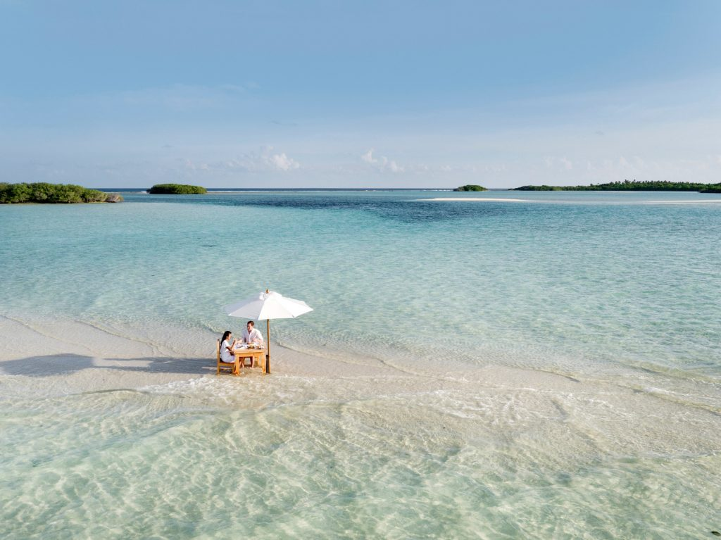Soneva Jani Luxury Resort - Noonu Atoll, Medhufaru, Maldives - Table Dining in Water
