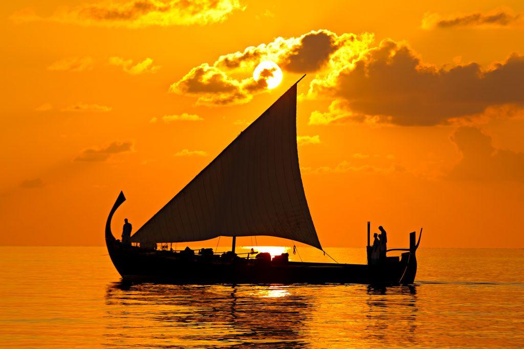 Velassaru Maldives Luxury Resort - South Male Atoll, Maldives - Boat Sunset