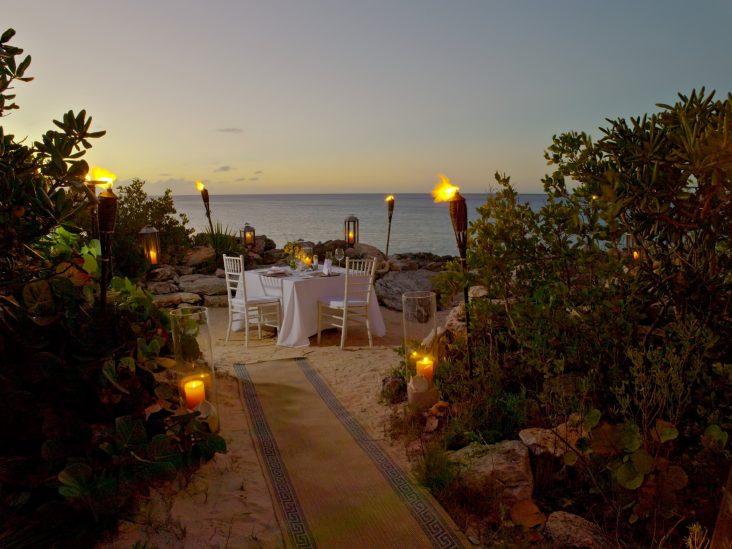 Amanyara Luxury Resort - Providenciales, Turks and Caicos Islands - Sunset Beach Dining