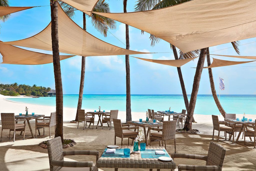 One&Only Reethi Rah Luxury Resort - North Male Atoll, Maldives - Oceanfront Beach Club Resturant