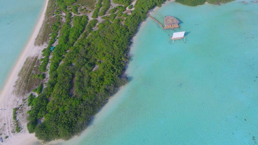 Soneva Jani Luxury Resort - Noonu Atoll, Medhufaru, Maldives - Cinema Paradiso Overwater Aerial
