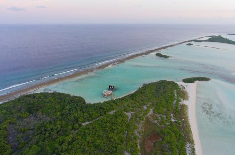 Soneva Jani Luxury Resort - Noonu Atoll, Medhufaru, Maldives - Cinema Paradiso Aerial